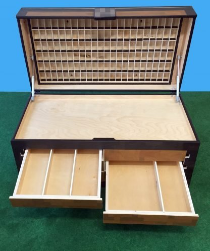 organizer for figures - an open chest
